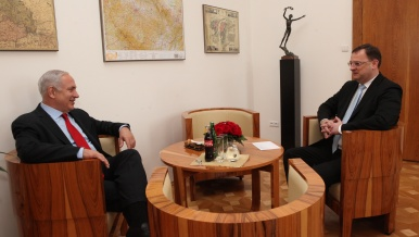 Prime minister Petr Nečas meets with Israeli Prime minister Benjamin Netanjahu, 17th may 2012