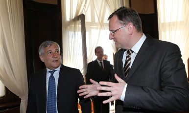 Prime Minister Petr Nečas met Vice-President of the European Commission Antonio Tajani on 6 September 2012.