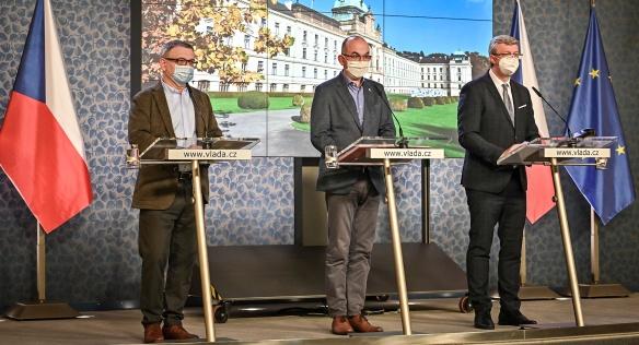 Tisková konference po jednání vlády, 7. prosince 2020.