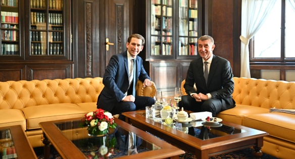 PM Andrej Babiš talks with Federal Chancellor of Austria Sebastian Kurz about transport infrastructure development, 16 January 2020.
