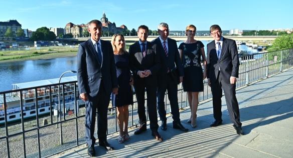 Premiér Babiš a vicepremiér Havlíček jednali v Drážďanech o spolupráci v oblasti vědy a výzkumu, 24.-25. června 2019.