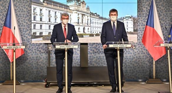 Tisková konference po jednání vlády, 4. ledna 2021.