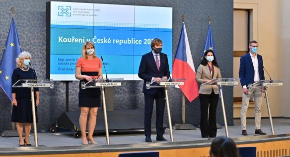 Tisková konference k výsledkům šetření o užívání tabákových výrobků, 28. května 2020.