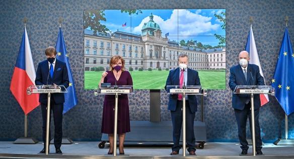 Tisková konference po jednání vlády, 7. června 2021.