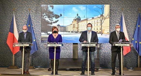 Tisková konference po jednání vlády, 18. ledna 2021.