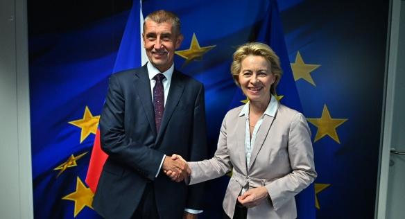 Premiér jednal s nově zvolenou předsedkyní Evropské komise Ursulou von der Leyenovou, 29. července 2019.