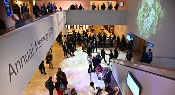 Světové ekonomické fórum v Davosu, 24. ledna 2019.