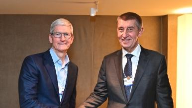 Setkání s výkonným ředitelem Apple Inc., Timem Cookem, 24. ledna 2019