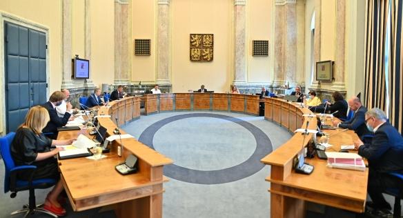 Kabinet zasedl ve Strakově akademii poprvé po vládních prázdninách, 17. srpna 2020.