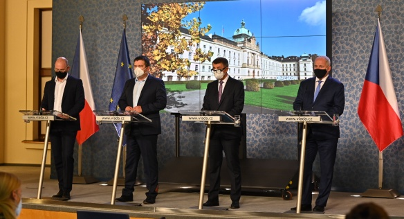 At a press conference, the government announced new measures against coronavirus, 12 October 2020.