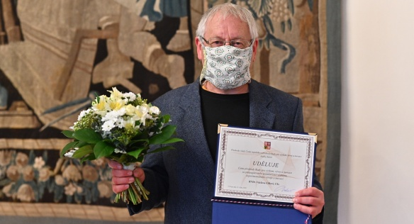 Václav Cílek je nositelem Ceny předsedy Rady pro výzkum, vývoj a inovace za rok 2020, 13. října 2020.