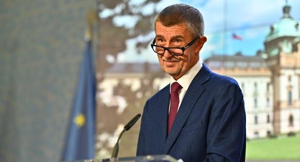 Premiér Andrej Babiš na tiskové konferenci po jednání vlády, 9. září 2019.