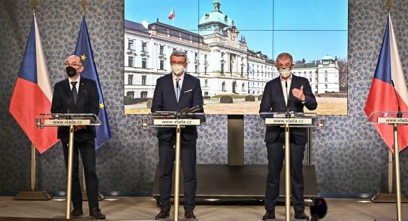 Tisková konference po mimořádném jednání vlády, 3. března 2021.