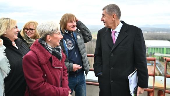 Premiér Babiš v Litvínově jednal o podpoře projektů na rozvoj města či financování škol, 30. ledna 2020.