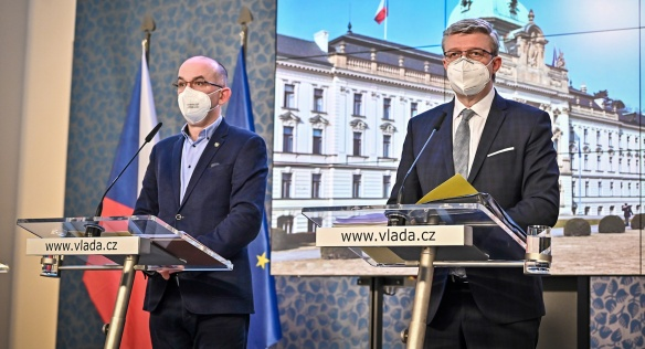 Tisková konference po jednání vlády, 15. března 2021.