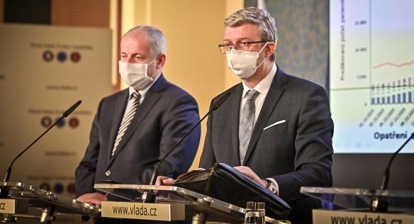 Tisková konference po jednání vlády, 26. října 2020.