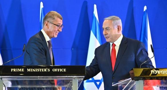 Premiér Andrej Babiš jednal v úterý 19. února 2019 v Jeruzalémě s izraelským protějškem Benjaminem Netanyahuem.