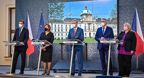 Tisková konference po jednání vlády, 29. března 2021.