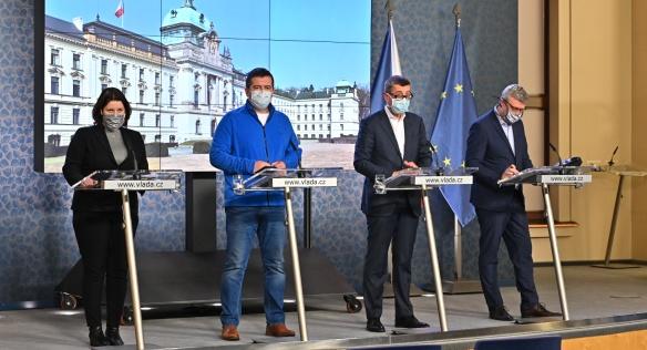 Vláda na mimořádném zasedání přijala další opatření v boji proti koronaviru, 19. března 2020.