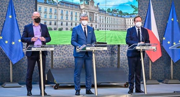 Tisková konference po mimořádném jednání vlády, 29. dubna 2021.