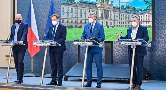 Tisková konference po jednání vlády, 10. května 2021.