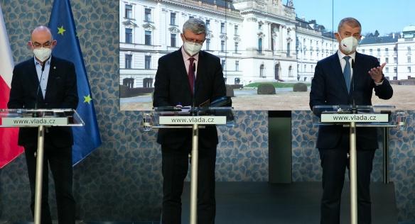 Tisková konference po mimořádném jednání vlády, 5. března 2021.