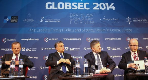 The GLOBSEC 2014 international security forum was held in Bratislava on 15 May 2014.