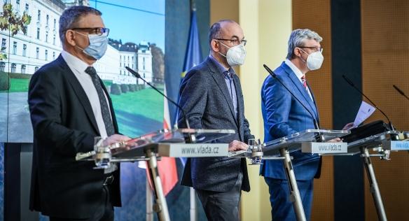 Tisková konference po mimořádném jednání vlády, 17. prosince 2020