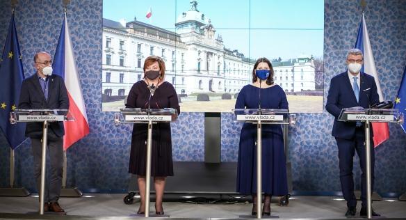 Tisková konference po jednání vlády, 11. ledna 2021.