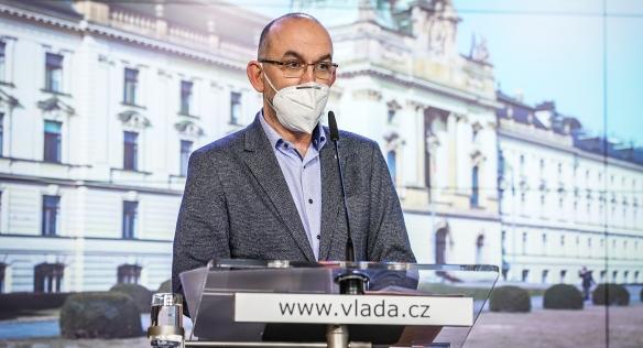 Tisková konference po mimořádném jednání vlády k očkování, 13. ledna 2021.
