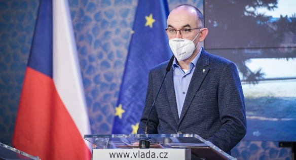 Minister of Health Jan Blatný at a press conference after the government meeting, 11 February 2021.
