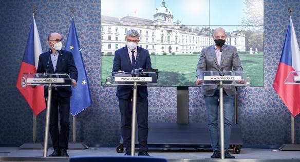 Tisková konference po jednání vlády, 6. dubna 2021.