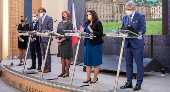 Tisková konference po jednání vlády, 31. května 2021.