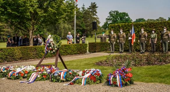 Pietní akt k 79. výročí vyhlazení obce Lidice, 12. června 2021.