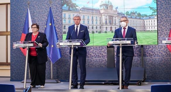 Tisková konference po jednání vlády, 20. září 2021.