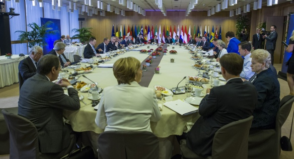 The European Council in session in Brussels, 20th October 2017. Source: the European Union