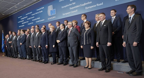 On Thursday 23 October 2014, Prime Minister Bohuslav Sobotka attended the European Council meeting in Brussels. Source: European Council.