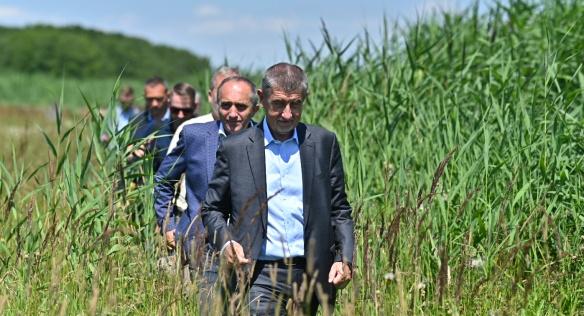 Národní přírodní rezervace Bohdanečský rybník, 23. července 2020.