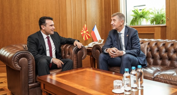Prime Minister Andrej Babiš supported the efforts of Northern Macedonia to join the EU and visited Czech policemen, 11 June 2019.